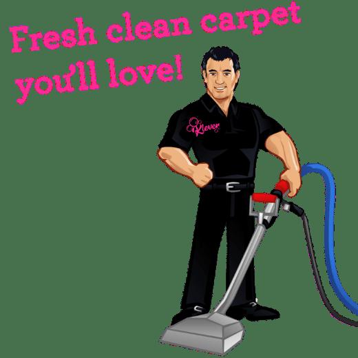 Klever carpet cleaner guy