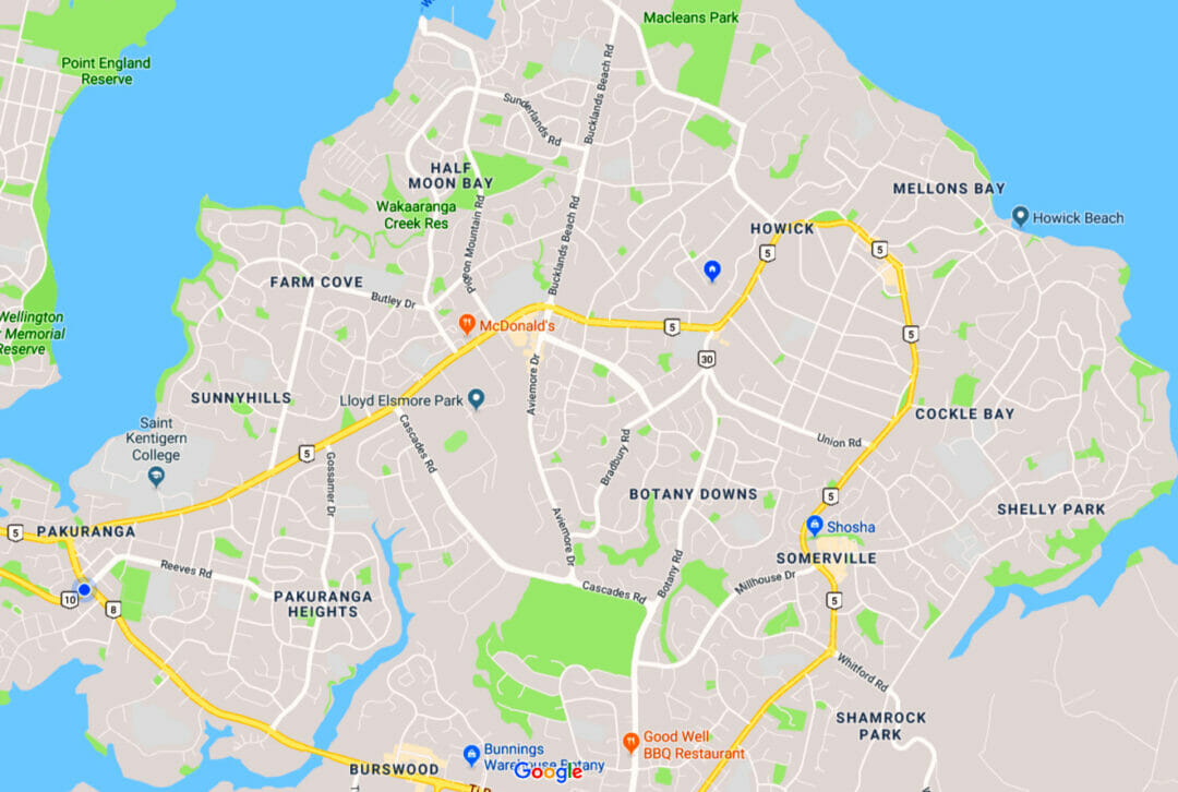 Map Of East Auckland Suburbs Klever Carpet Cleaning