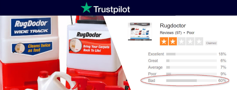 rug doctor review showing rating