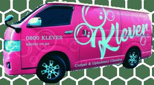 Klever Carpet Cleaning Pink Van